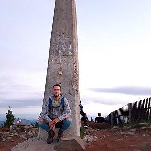 Filip Šimon na vrcholu Lysá hora (6.7.2020 3:13)