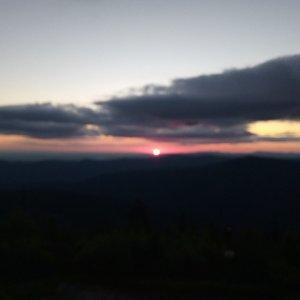 Aneta Gabzdylová na vrcholu Lysá hora (6.7.2020 4:41)