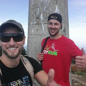 Jan Čech na vrcholu Lysá hora (12.8.2018 9:52)
