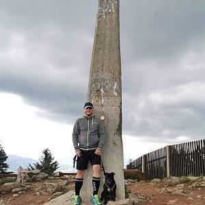 Tomáš Mucha na vrcholu Lysá hora (12.7.2020 16:00)