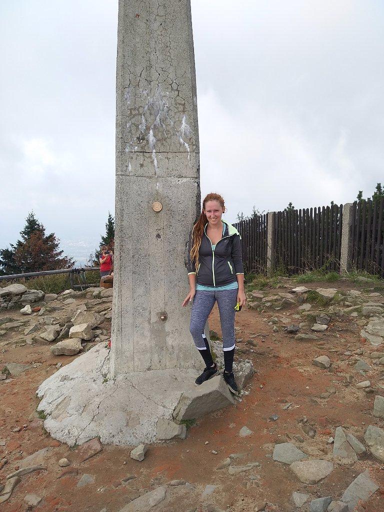 Šárka na vrcholu Lysá hora (6.9.2018 11:58)
