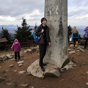 Pavel a Lukáš na vrcholu Lysá hora (27.10.2020 12:53)
