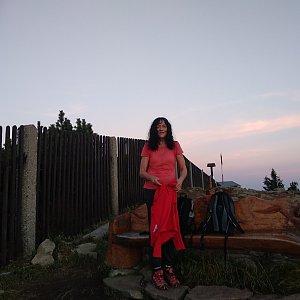 Jana Mayerová na vrcholu Lysá hora (9.10.2018 18:12)