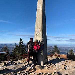 Pavlaja na vrcholu Lysá hora (22.11.2020 9:25)