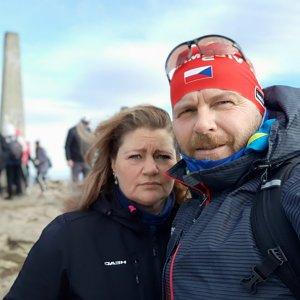 Martin a Jana Halamíčkovi na vrcholu Lysá hora (22.11.2020 10:59)