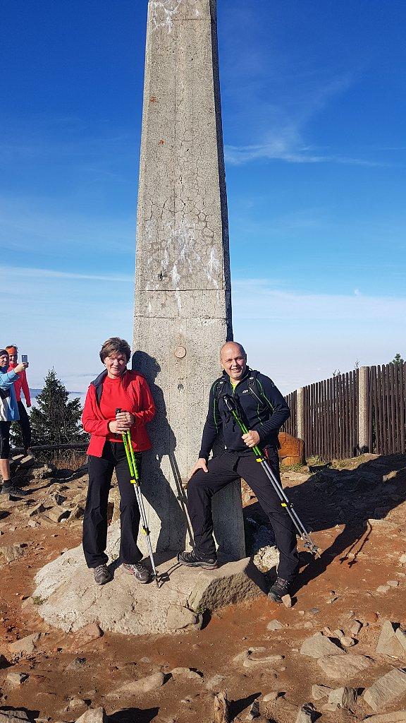 Fido a Myszka na vrcholu Lysá hora (4.11.2018 11:33)