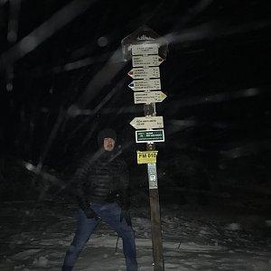 Vojtěch Horák na vrcholu Lysá hora (6.2.2018 17:54)