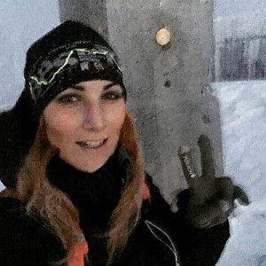 Kačaba Mikulenková na vrcholu Lysá hora (2.12.2017 7:00)