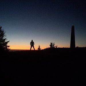 Vendula Kalocsányiová na vrcholu Lysá hora (17.11.2018 17:00)