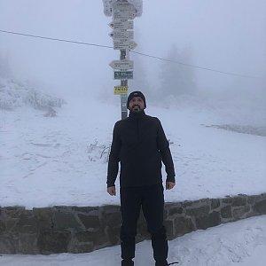 koc256 na vrcholu Lysá hora (26.1.2018 7:20)
