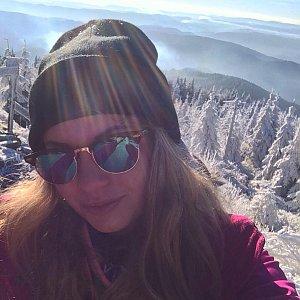 Ivča na vrcholu Lysá hora (29.11.2018 9:30)