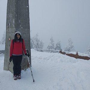 Jana Mayerová na vrcholu Lysá hora (16.12.2018 12:40)