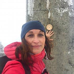 Veronika Spáčilová na vrcholu Lysá hora (12.12.2020 14:33)