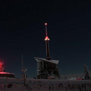 Jan Bančík na vrcholu Lysá hora (1.1.2021 0:06)
