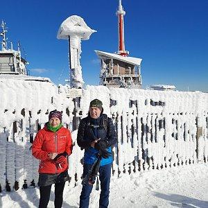 MUDr.Svatopluk Kunčar na vrcholu Lysá hora (1.1.2021 11:30)