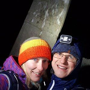 Michaela Karásková na vrcholu Lysá hora (1.1.2021 18:51)