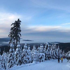 Dominika Turčeková na vrcholu Lysá hora (1.1.2021 15:00)