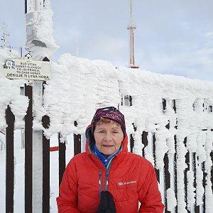 MUDr.Svatopluk Kunčar na vrcholu Lysá hora (2.1.2021 13:07)