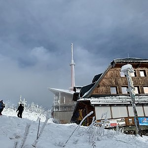 Stanislav Jára na vrcholu Lysá hora (2.1.2021 12:00)