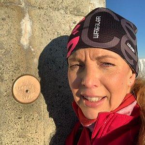 Jana Grafová na vrcholu Lysá hora (1.1.2021 9:11)