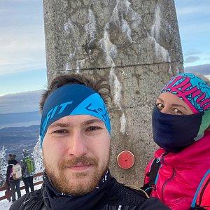 Dominika Turčeková na vrcholu Lysá hora (2.1.2021 15:15)