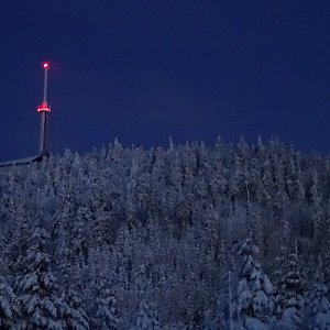 Tomáš Vašíček na vrcholu Lysá hora (1.1.2021 17:00)