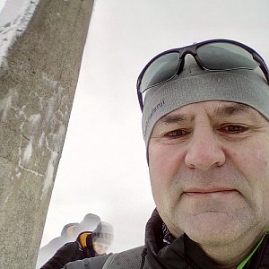 Li Be na vrcholu Lysá hora (3.1.2021 9:43)