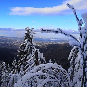 Jan Bančík na vrcholu Lysá hora (3.1.2021 12:42)