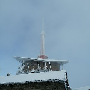 Monika Moko na vrcholu Lysá hora (2.1.2021 11:10)