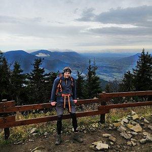 Tomáš Vašíček na vrcholu Lysá hora (1.11.2020 15:10)