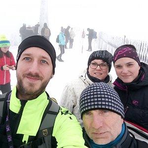 Michaela Hilscherová na vrcholu Lysá hora (30.12.2018 10:50)