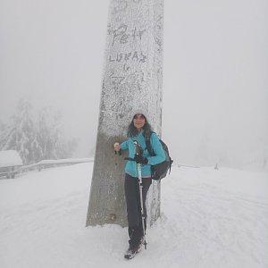 Jana Mayerová na vrcholu Lysá hora (31.12.2018 9:42)