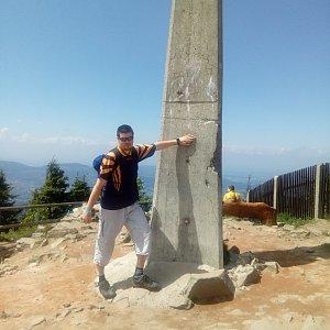 Martin Holuša na vrcholu Lysá hora (26.5.2018 13:00)