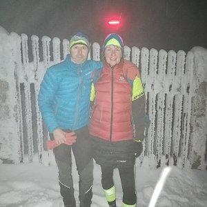 Petra Kosarkova na vrcholu Lysá hora (7.1.2021 16:46)