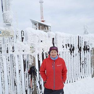MUDr.Svatopluk Kunčar na vrcholu Lysá hora (8.1.2021 12:51)