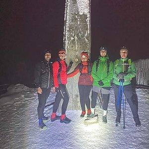 Dominika Turčeková na vrcholu Lysá hora (7.1.2021 18:30)