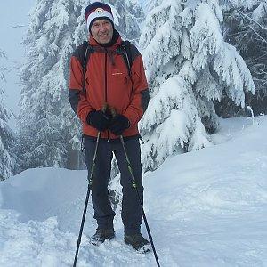 MUDr.Svatopluk Kunčar na vrcholu Lysá hora (5.1.2019 18:11)