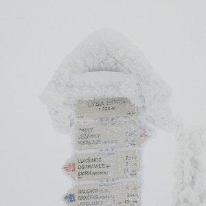 Mirka na vrcholu Lysá hora (5.1.2019 12:30)