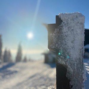 Dominika Turčeková na vrcholu Lysá hora (11.1.2021 15:00)