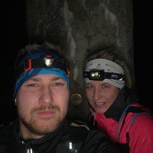Dominika Turčeková na vrcholu Lysá hora (12.1.2021 18:00)