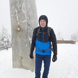 MUDr.Svatopluk Kunčar na vrcholu Lysá hora (13.1.2021 12:42)