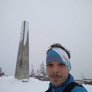 Ivoš na vrcholu Lysá hora (12.1.2021 15:35)