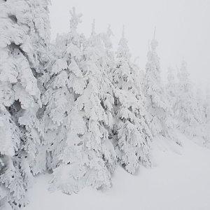 Turista Kamil na vrcholu Lysá hora (5.1.2019 6:30)