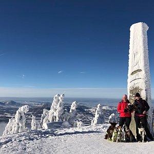 Efka na vrcholu Lysá hora (7.1.2019 12:15)