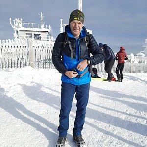 MUDr.Svatopluk Kunčar na vrcholu Lysá hora (15.1.2021 12:37)