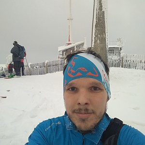 Ivoš na vrcholu Lysá hora (15.1.2021 15:30)