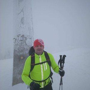 Vítězslav Vrána na vrcholu Lysá hora (6.1.2019 9:18)