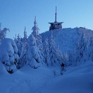 Petra Kosarkova na vrcholu Lysá hora (17.1.2021 16:44)