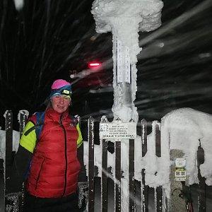 Petra Kosarkova na vrcholu Lysá hora (19.1.2021 17:28)