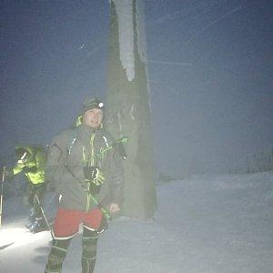 Ondřej Sládek na vrcholu Lysá hora (18.1.2021 15:20)